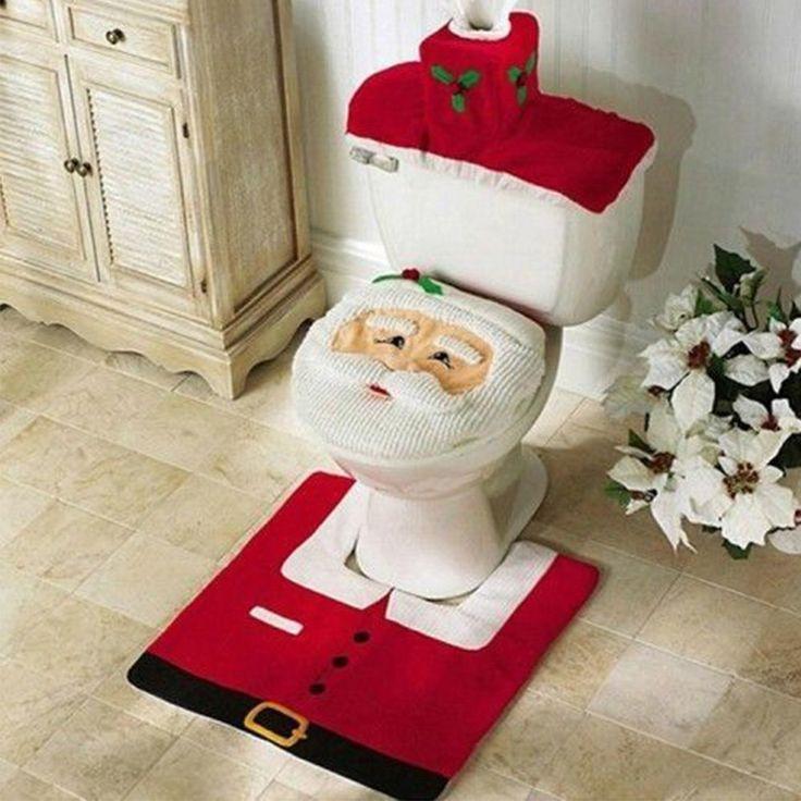 Toilette Décoration Housse Tapis Noël