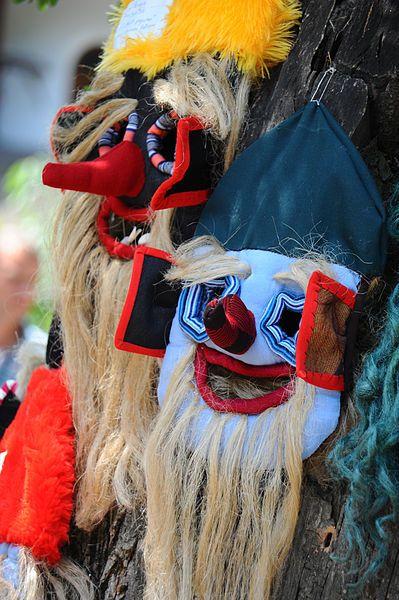 Traditional romanian folk masks. Bucharest, Romania, Southeastern Europe.jpg