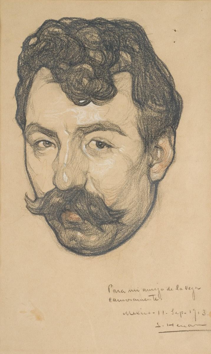 Saturnino Herran - ritratto - anatomia - sketch - prospettiva - baffi -