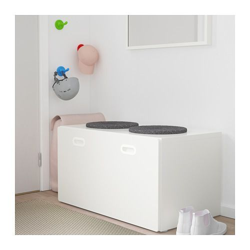 Stuva Fritids Bench With Toy Storage White White 90x50x50 Cm