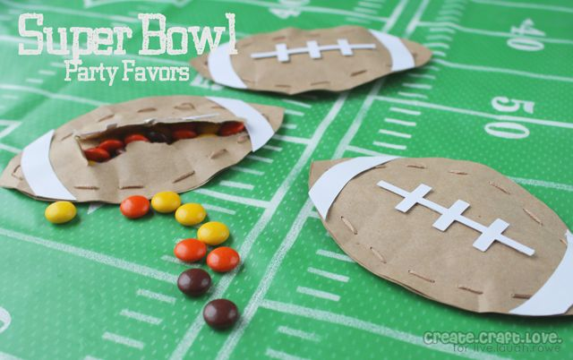 Super Bowl Party Favors by Create Craft Love for LiveLaughRowe.com #football #favor #tutorial