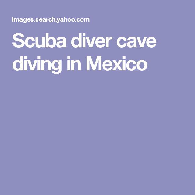 Scuba diver cave diving in Mexico