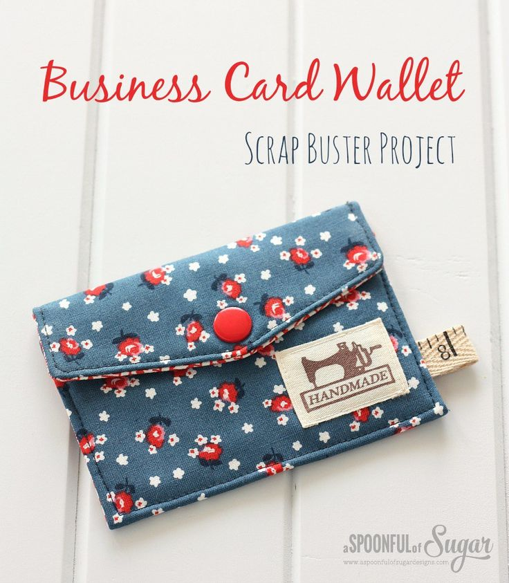 This Business Card Wallet Scrap Buster Project makes a great gift! Stuff with a gift card or a little cash.