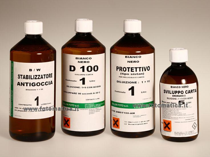 Nuovi prodotti chimici bianco e nero per pellicola e carta. Tutti i prodotti sono fabbricati in Italia.   http://www.fotomatica.it/contents/it/d182_chimici_bwork.html
