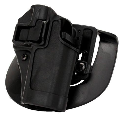 Serpa CQC, Belt & Paddle Holster, Plain Matte Black Finish - S&W M&P, Sigma, Right Hand