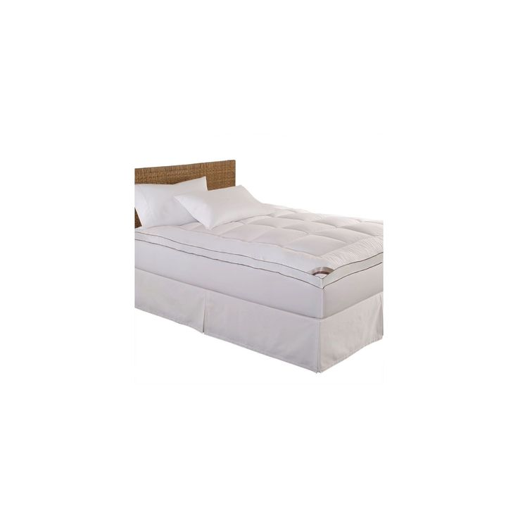 100% Cotton Fiber Mattress Pad (Queen) White - Kathy Ireland