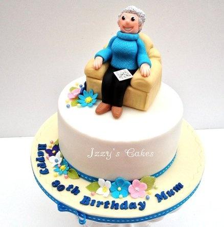 Crossword loving Granny!  Cake by izzyscakes