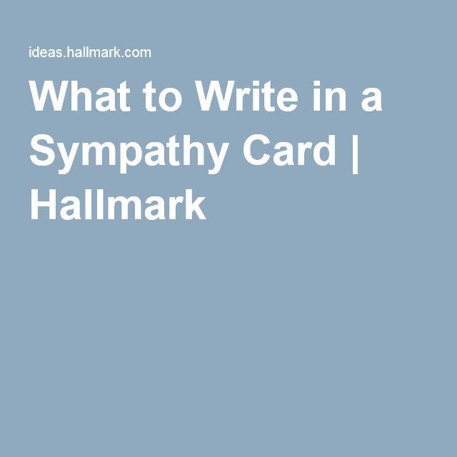 what to write on sympathy card