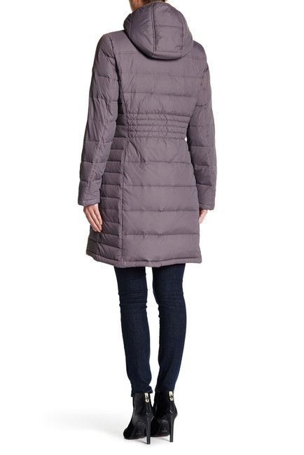 Image of Michael Kors Hooded Down & Feather Quilted Coat