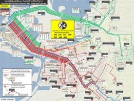 Abu Dhabi regional bus map