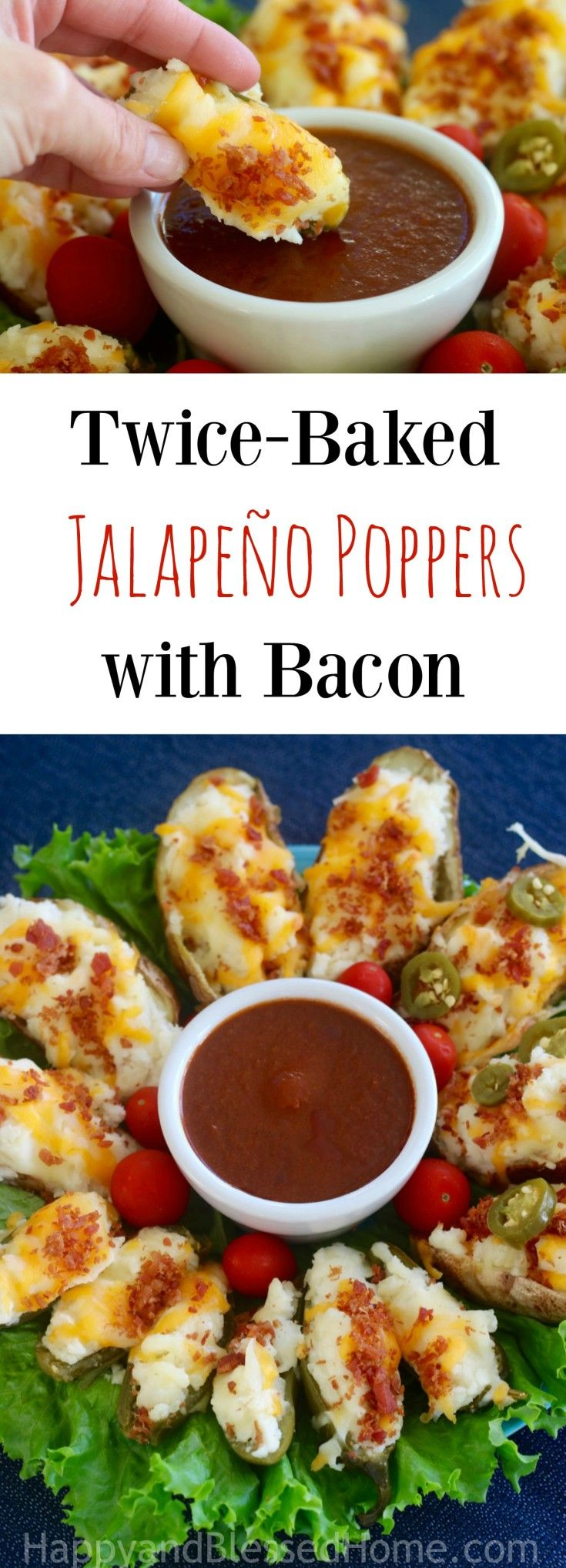 Easy Appetizer Recipe for Twice-Baked Jalapeño Poppers with Bacon ...