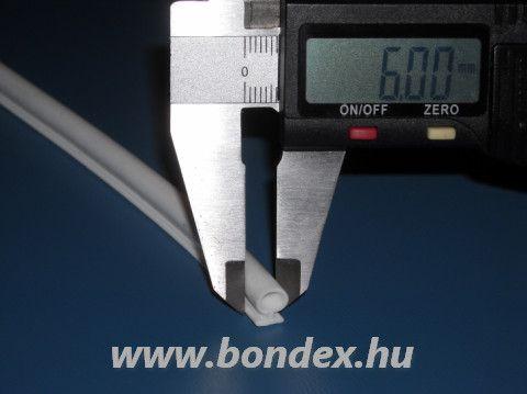 Magas nyakú fehér szilikon nyílászáró omega profil 6 mm