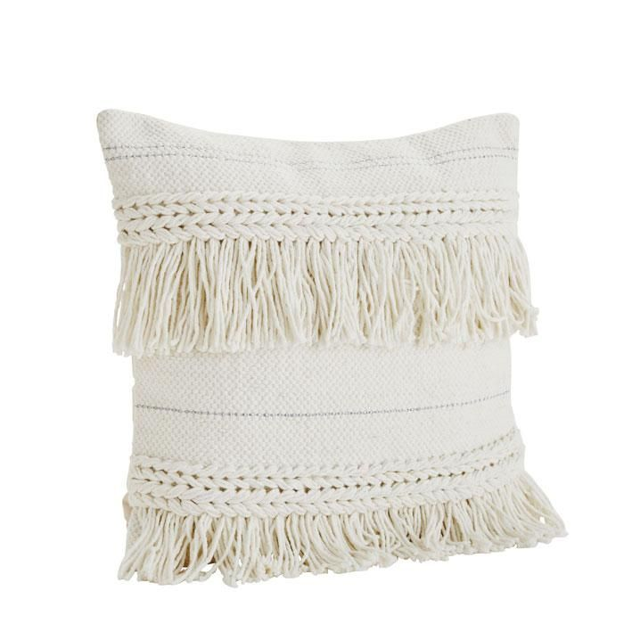 White bohemian cushion
