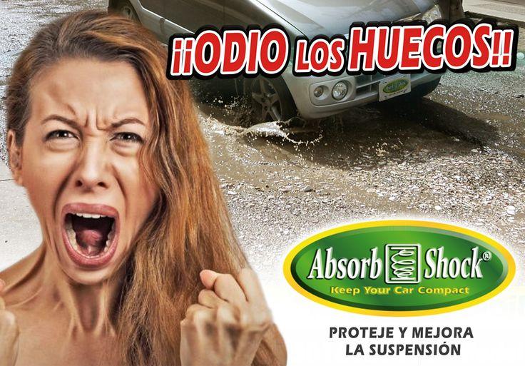 """Campaña de ¡¡Odio los Huecos"""" por eso debes usar ABSORB SHOCK®"""