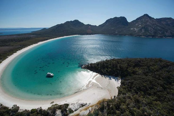 Wineglass Bay, Tasmania anyone. Image courtesy of Wineglass Bay Cruises. http://togetherweroam.com.au/best-places-to-go-with-kids-in-february/