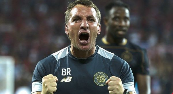 "Brendan Rodgers happy to get through my longest 90 minutes as a coach    Celtic's coach Brendan Rodgers celebrates  Brendan Rodgers suffered ""probably the longest 90 minutes"" of his managerial career as Celtic survived a scare against Hapoel Be'er Sheva to reach the Champions League group stage for the first time in three years with a 5-4 aggregate.  The Hoops were heavy favourites to see out the play-off second leg after their 5-2 victory at Parkhead last week but were on the ropes from the…"