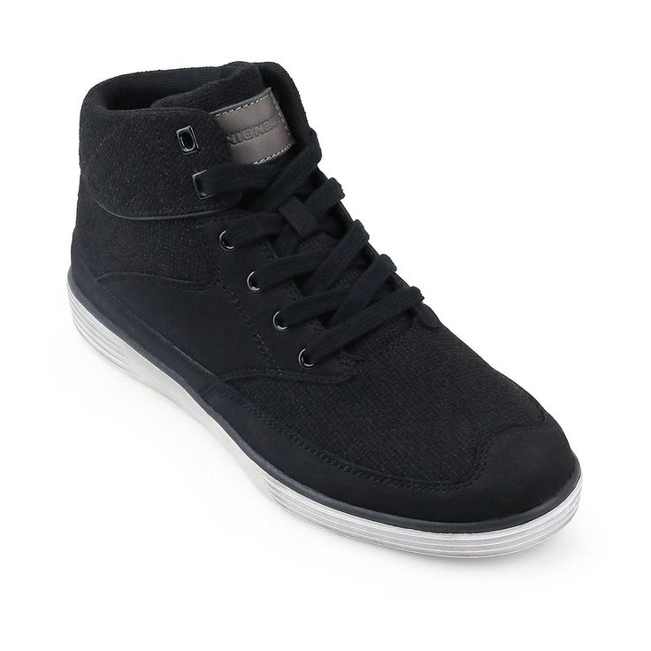 Unionbay Flage Men's High Top Sneakers, Size: medium (9.5), Black