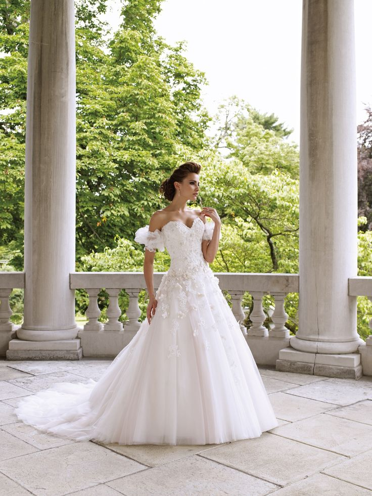 DeaconMoncheri, Full Skirts, Wedding Dressses, Bridal Dresses, Princesses Wedding Dresses, David Tutera, Bridal Gowns, Mon Cheri, Satin Dresses
