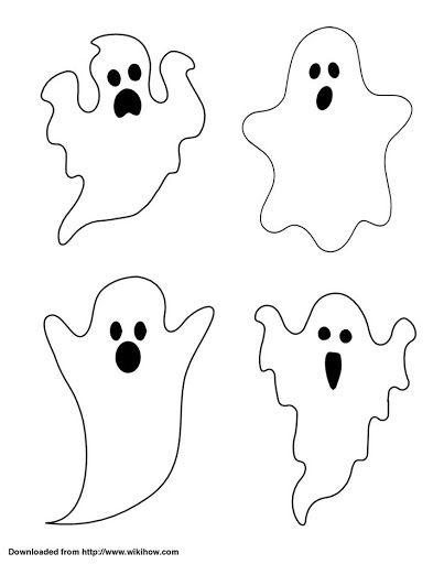 Silueta de fantasma con huellas de dedos para Halloween                                                                                                                                                                                 Más