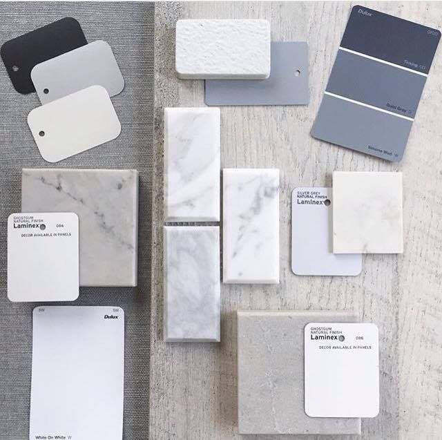 Another gorgeous flat lay from @emmarosedesign Love this colour palette!  #tilespo #nationaltiles
