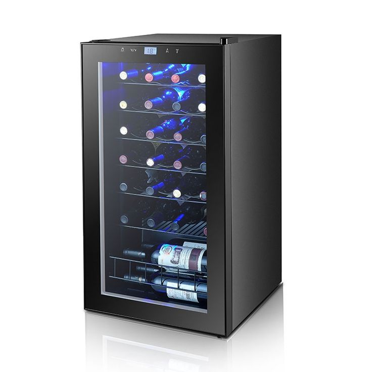 279.30$  Buy here - http://aliild.worldwells.pw/go.php?t=32778947935 - SMAD 3.4 cu ft Thermoelectric Wine Refrigerator Compressor 35 Bottles Wine Cooler Fridge Hotel Wine Cellar/ Chiller  279.30$