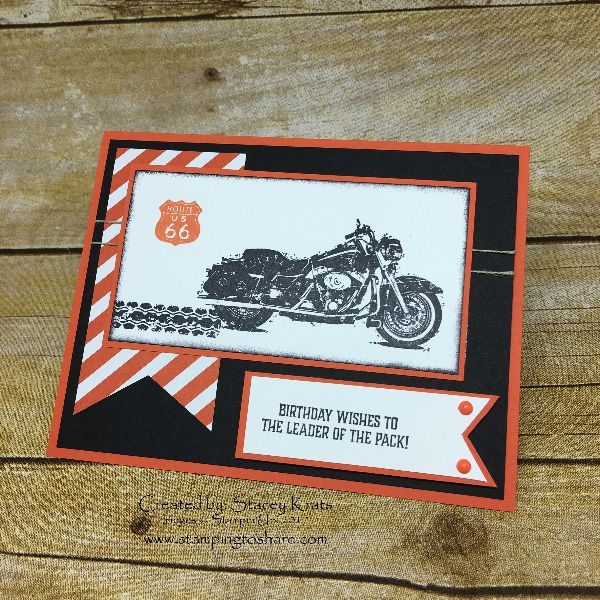 Stampin' Up! One Wild Ride Swap Card by Stacey Krats, May Stamping to Share Demo Meeting Swap, #stampingtoshare