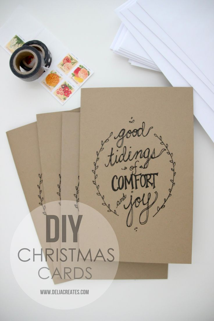 Adorable way to do a quick Christmas card... also fun for labels/gift wrap. #printable