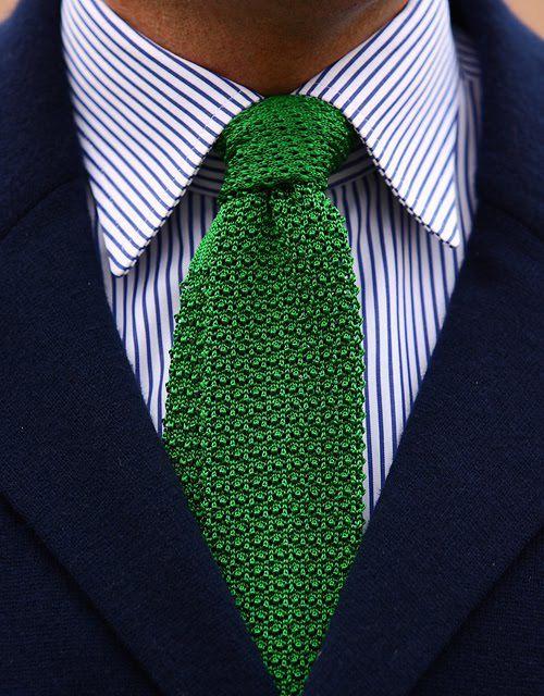 Green Knit Tie by Ralph Lauren