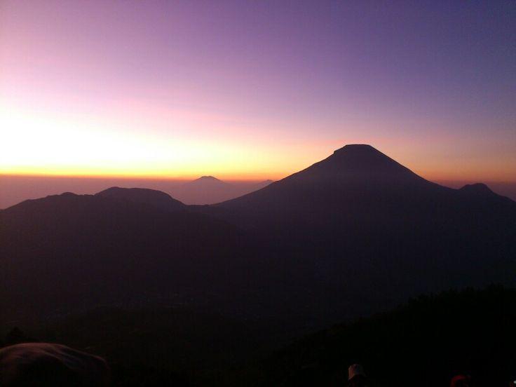 Awsome dieng sunrise indonesia