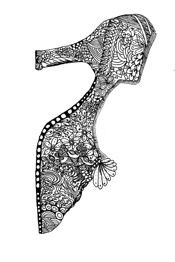 178 best shoes coloring pages for adults images on pinterest