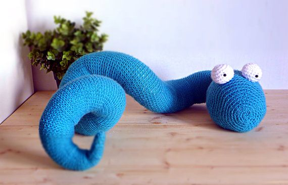Crochet amigurumi snake, sweet cuddly funny crochet animal toy, huggable decorative snuggly toy for kids children, no draughts MADE TO ORDER