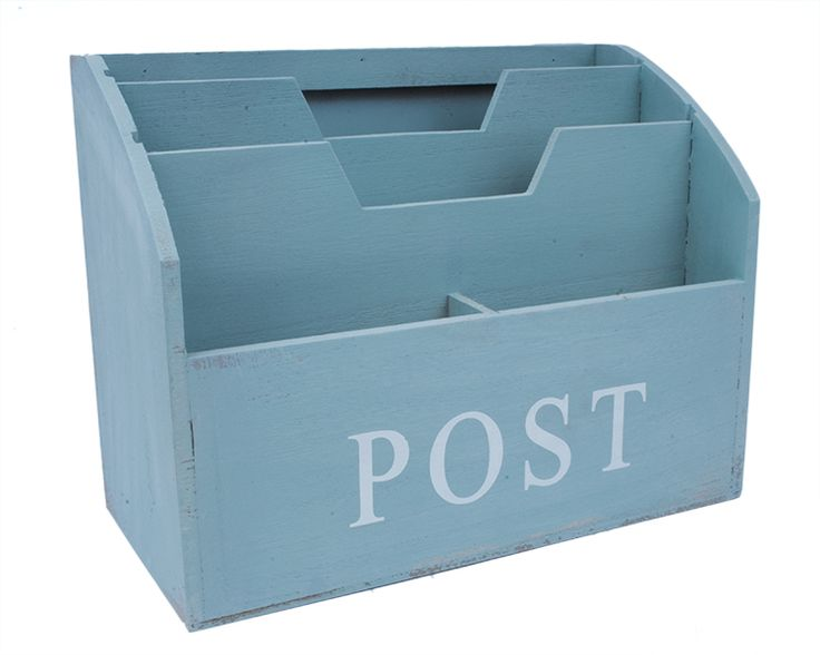 "Pojemnik na listy ""POST"" - zielony lovelypassion.pl #shabbychic #vintage #country #shop #decor #home #dom #dekoracja #inspiration #beautiful"