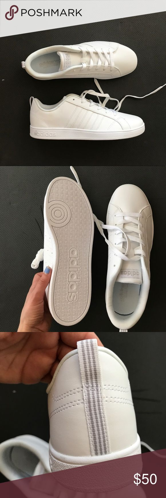 Adidas neo comfort white CLASSIC NEW A brand New pair of classics white on white and never worn, it's too big for me. They fit more like a size 7 womens adidas Shoes Sneakers