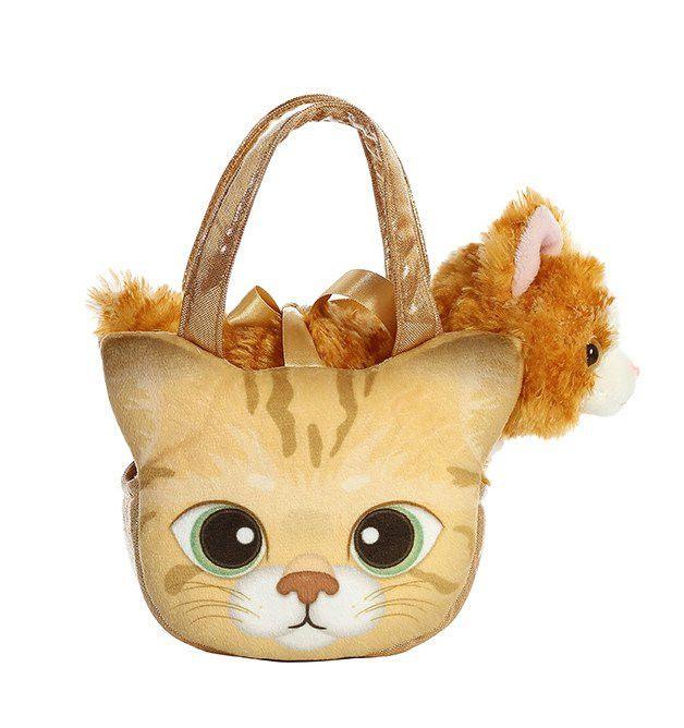 """Aurora Fancy Pals Peek-A-Boo Orange Tabby Kitten 7"""""""