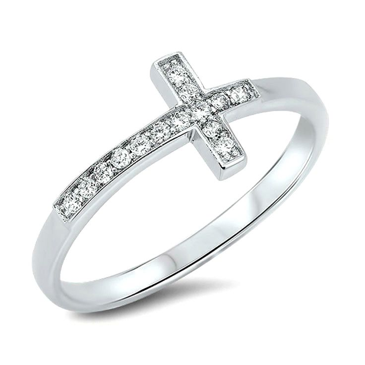Sterling Silver Cross Ring $25 http://www.sixshootergiftshop.com/collections/view-all-of-our-rings/products/sterling-silver-cross-ring