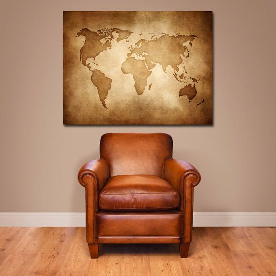 vintage map canvas clearance item from etsy!