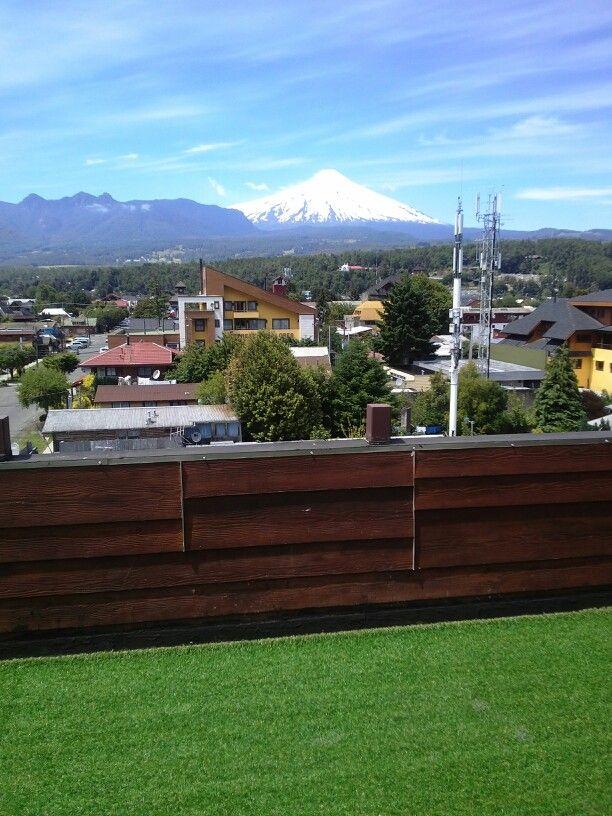 Vista desde terraza hotel rangi de Pucón