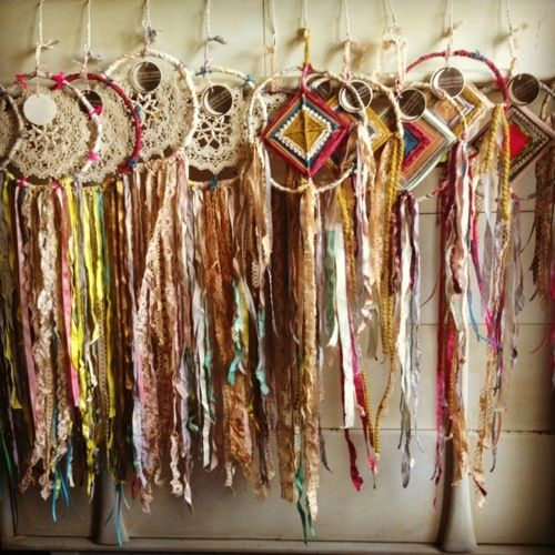 Dream Catchers by Karen Michel-wow these are very chic.  most beautiful dream catchers I've ever seen