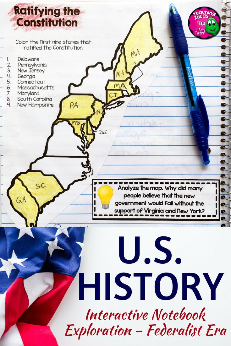 American History Interactive Notebook - Exploration - Federalist Era - This 165 page resource is great for your 7th, 8th, or 9th grade classroom or home school students. Your middle school class will love the graphic organizers, interactive notebook materials, quizzes, and more that are included in this US History resource. Topics include Colonial America, Revolutionary War, the Constitution, and much more. Grab it today! {middle schoolers, sixth, seventh, eighth graders, U.S. History}