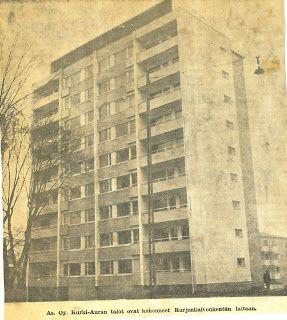 Asuinrakennuksista edellisenä vuonna 1956 valmistuneet Puutarhakatu 11:n ja 13:n 14-kerroksiset talot veivät tietenkin voiton. Heti valmistuttuaan oma Asunto-osakeyhtiö Kurkiauramme pääsi oikein sanomalehteen.