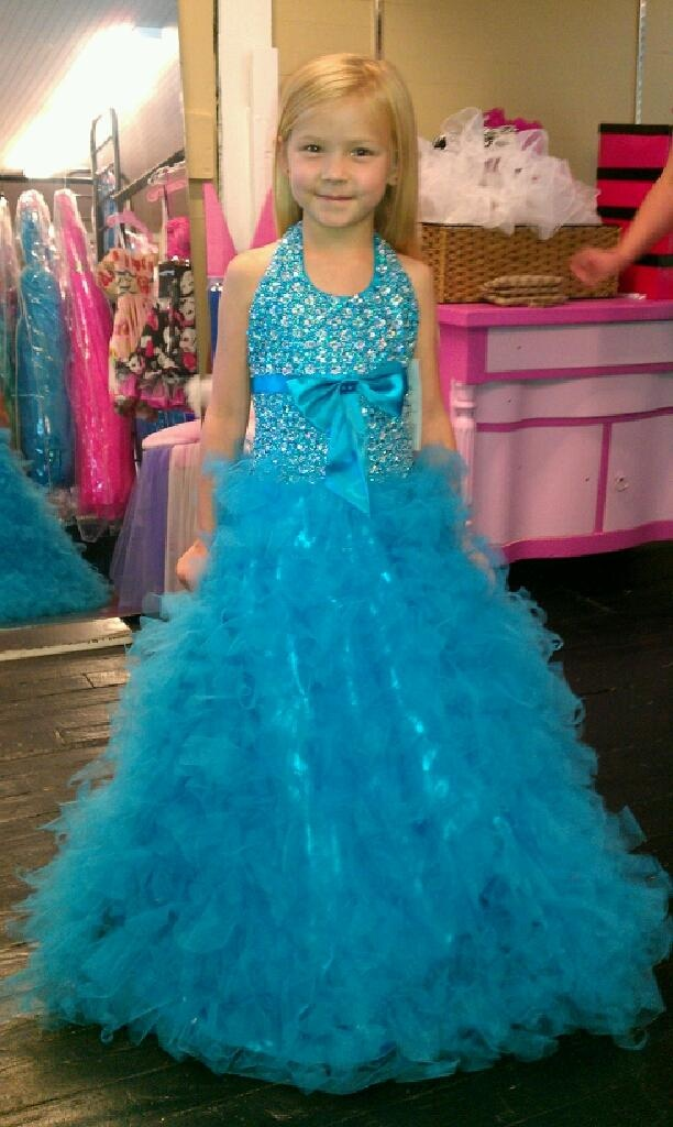 Haleigh in her pagent dress!! that miss April helped pick out