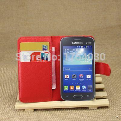 Винтажный перевёрнутый кожа чехол для Samsung Galaxy ACE 3 III S7270 S7272 S7275 защитный чехол с карта слот