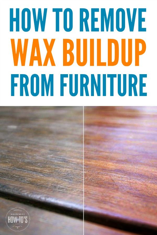 Sticky Furniture Here S An Easy All Natural Solution Remove Wax House Cleaning Tips Cleaning Hacks