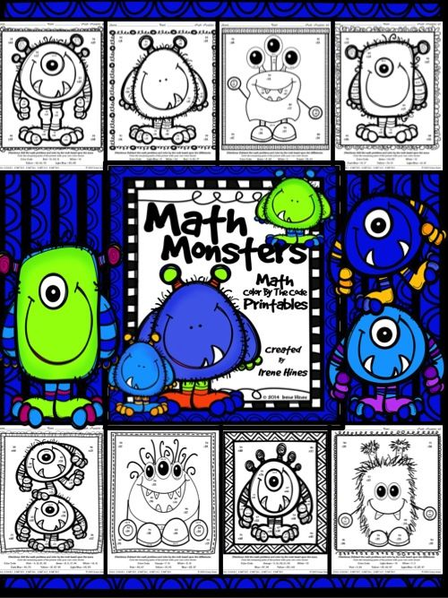 Math Monsters ~ Double Digit Addition And Subtraction With Regrouping Color By The Code Puzzle Printables. ~This Unit Is Aligned To The CCSS. Each Page Has The Specific CCSS Listed.~ This set includes 8 math puzzles- 2-Digit Addition Subtraction with regrouping. Answer Keys Included. $