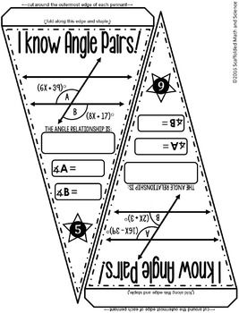 Parallel Lines, Transversals, and Angles Math Pennant