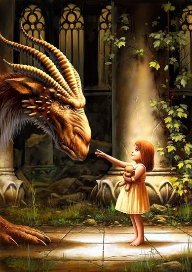 """Are you a Dragon?"" The little girl asks pointing at me. ""Yes, child,"" I say. ""But I am the last of my kind."""
