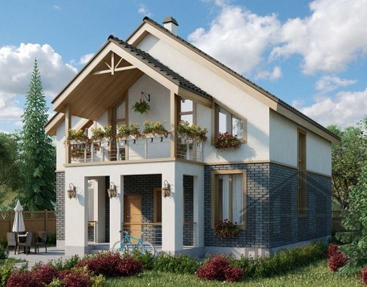 Проект дома из блоков 10-2032