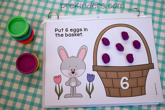 Easter Play Dough Counting Mats