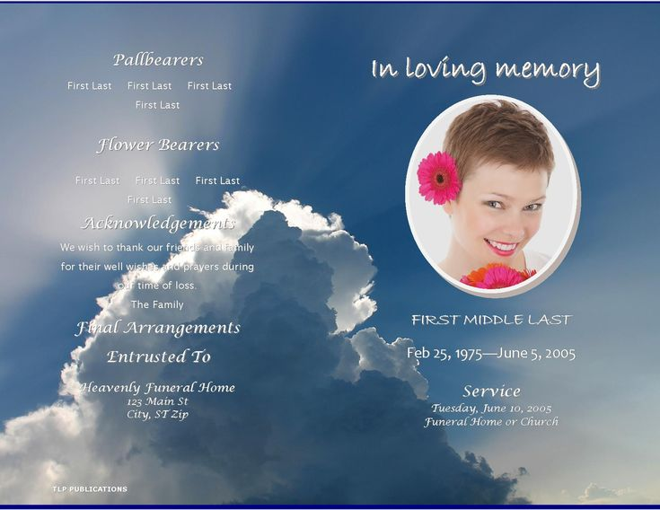 in loving memory templates