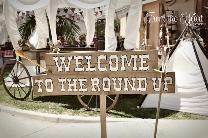 Welcome sign from Wild West Cowboy Party at Kara's Party Ideas. See more at karaspartyideas.com!
